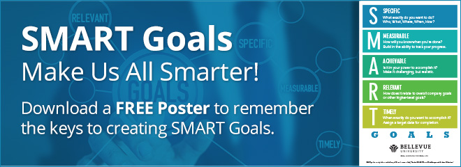 Download a free poster to remember the SMART Goals